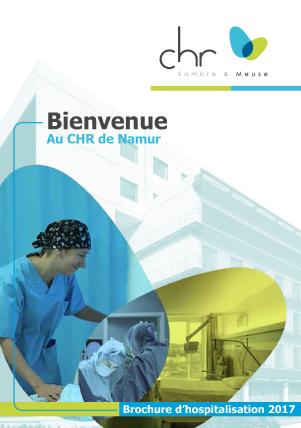 Brochure d'Accueil CHR de Namur régie publicitaire agence de communication Redline