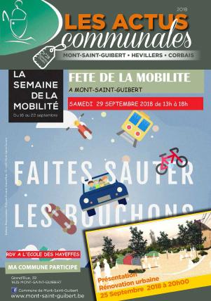 Bulletin-communal-Mont-Saint-Guibert-Actus-communales-régie-publicitaire-agence-de-communication-Redline-aout-2018