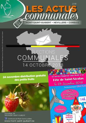 Bulletin-communal-Mont-Saint-Guibert-Actus-communales-régie-publicitaire-agence-de-communication-Redline-novembre-2018