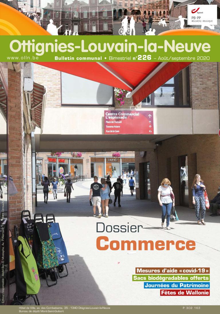 Bulletin-communal-Ottignies-Louvain-la-Neuve-régie-publicitaire-agence-de-communication-Redline-aout-2020