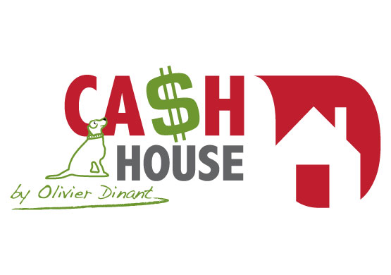 logo cash house - redline communication